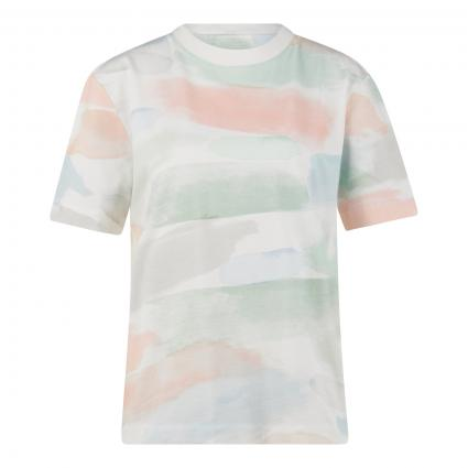 T-Shirt 'Taraa' mit All-Over Druck ecru (157 off white) | XL