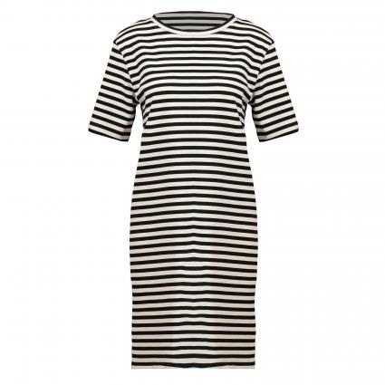 T-Shirt Kleid 'Kleaa' mit Streifenmuster  schwarz/blau-schwarz (1716 undyed-black) | L