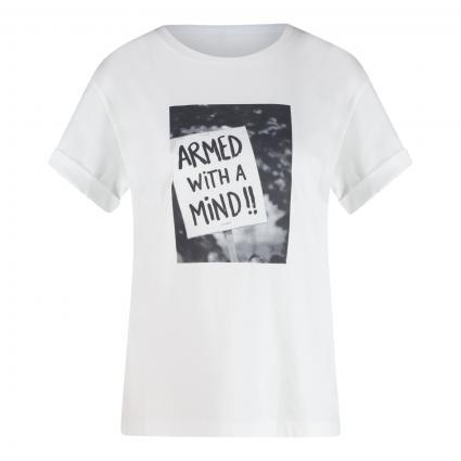 T-Shirt 'Demo' mit Print weiss (188 white)   M