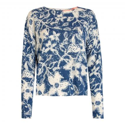 Pullover 'Alaya L' mit All-Over Print blau (460 jeans) | 42