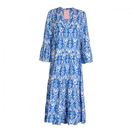 Stufenkleid 'Elda L' mit All-Over Print blau (473 royal)   42