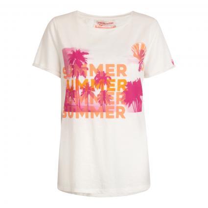 T-Shirt 'DruanaL'mit platziertem Druck ecru (110 offwhite) | XXXL