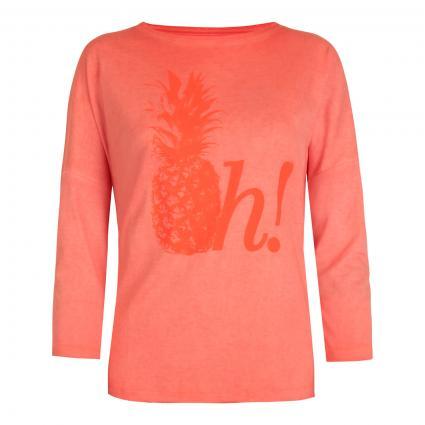 Print-Shirt 'Charis L' mit 3/4 Arm orange (361 sugar coral) | XXXL