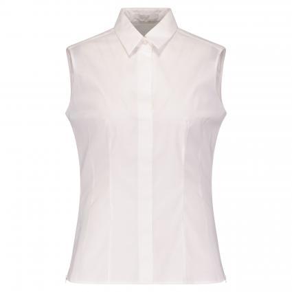 Ärmellose Bluse 'Bashiva' mit Spitzkragen weiss (100 White) | 44