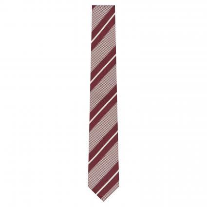 Krawatte mit All-Over Musterung bordeaux (601 Dark Red)   0