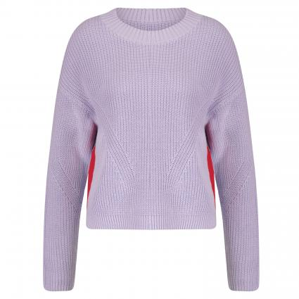 Pullover 'Sidina' mit Kontraststreifen lila (528 Bright Purple) | S