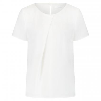 Kurzarmbluse 'Ivuni' mit Faltendetail weiss (112 Open White) | 36