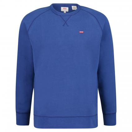 Sweatshirt mit Label-Patch blau (0013 SODALITE BLUE) | XL