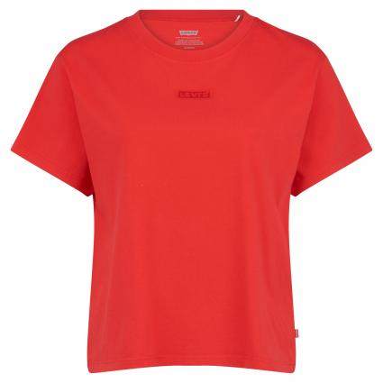 T-Shirt mit Label-Stickerei divers (0047 TONAL BABY TAB) | L