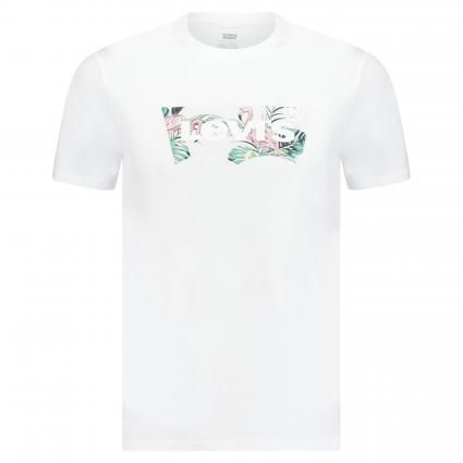 T-Shirt mit Logo-Print weiss (0274 FLAMINGO BATWIN) | M