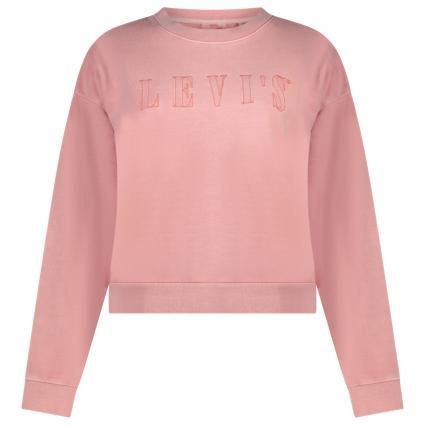 Sweatshirt mit Logo-Schriftzug rose (0029 SERIF OUTLINE G) | S