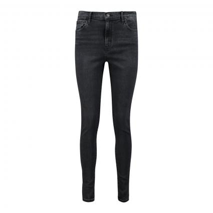 High-Rise Super Skinny Jeans '720' schwarz/blau-schwarz (0185 SMOKED OUT) | 26 | 32