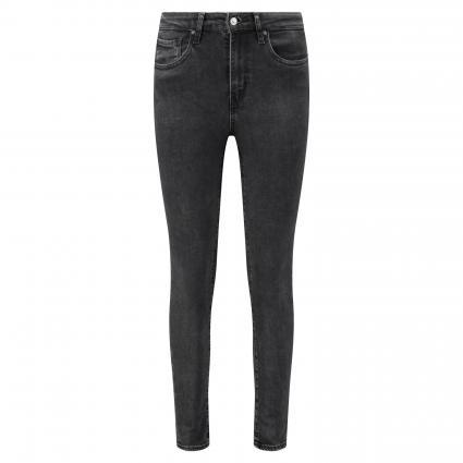 Highwaist Skinny Jeans  schwarz/blau-schwarz (0354 TRUE GRIT) | 25 | 28