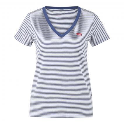 T-Shirt 'Annalise' mit Streifen und V-Ausschnitt divers (0021 Annalise Stripe) | S