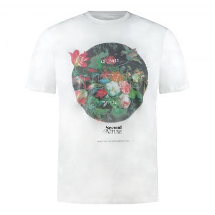 T-Shirt mit Print divers (0825 SSNL BT FILL WH)   S
