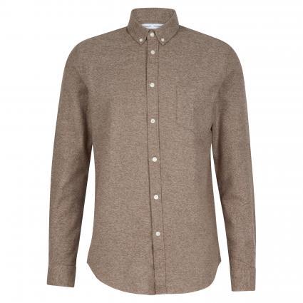 Casual-Hemd aus Baumwolle beige (10491 SHITAKE) | S