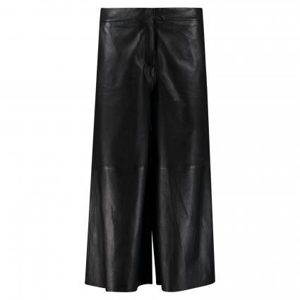Lederhose mit elastischem Bund schwarz (00001 BLACK) | XS