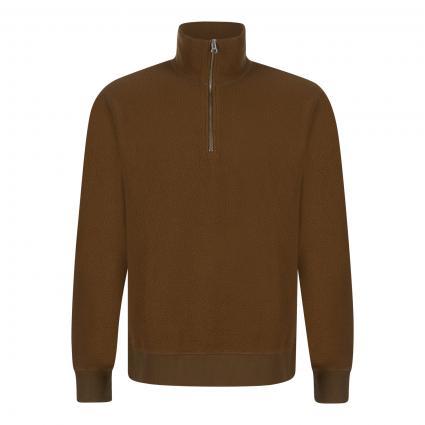 Fleeceshirt 'Tim' mit Zipper beige (10506 KANGAROO) | L