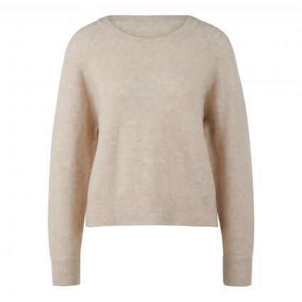 Pullover aus Alpaka-Mix ecru (00079 EGGNOG MEL.) | L