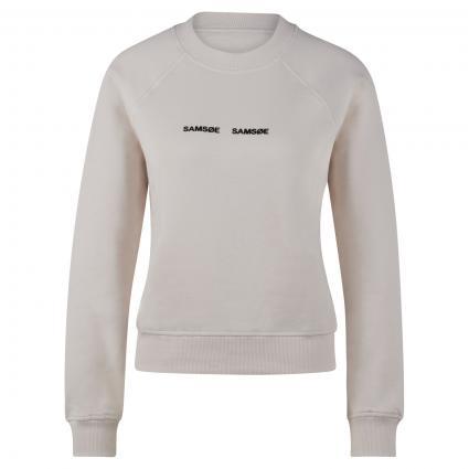 Sweatshirt 'Barletta' mit Logo Flockprint ecru (10544 EGGNOG) | M