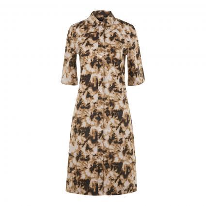 Hemdblusenkleid mit All-Over Druck beige (00175 CAMO CLAY) | M