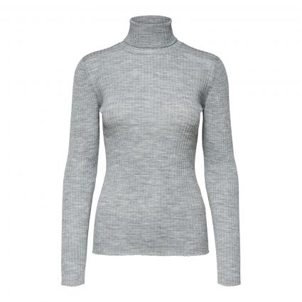 Rollkragenpullover 'Costa' in Ripp-Optik silber (178992 Light Grey Me) | L