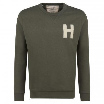 Sweatshirt mit Rundhalsausschnitt oliv (210490 Beetle) | S