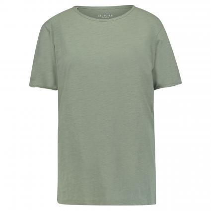 Basic-Shirt 'MORGAN' mit Rundhals  oliv (198288 Sea Spray) | XL