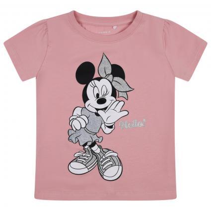 T-Shirt mit Minnie Mouse Print und Glitzer Details  rose (252299 Coral Blush) | 92