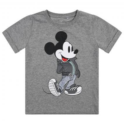 T-Shirt mit Mickey Mouse Print grau (179334 Grey Melange) | 116