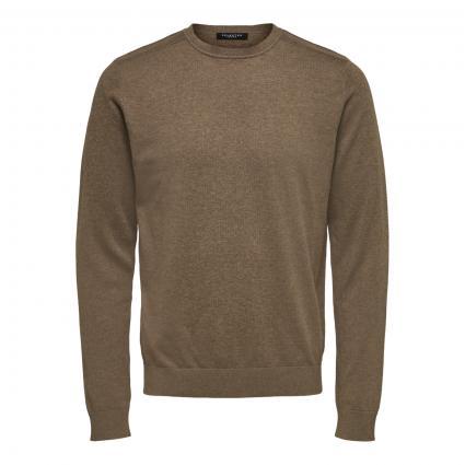 Pullover mit Rundhalsausschnitt braun (182711001 Teak/Melan)   L