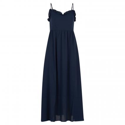 Kleid 'Raya' mit Rüschenausschnitt marine (187760 Dark Sapphire) | 40