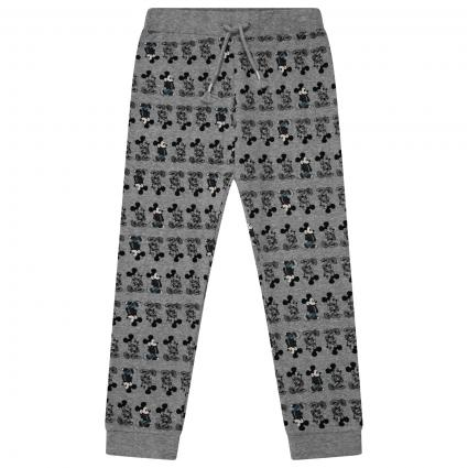Hose mit All-Over Mickey Mouse Print  grau (179334 Grey Melange) | 92