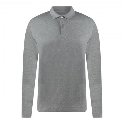 Langarm-Poloshirt  grau (178991 Medium Grey M) | XXL