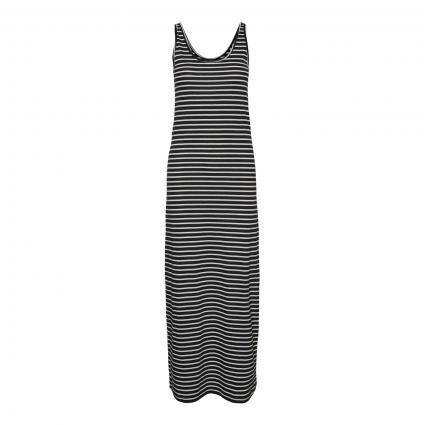 Kleid 'Anna' mit Streifenmuster  schwarz (177868001 Black/SNOW) | M