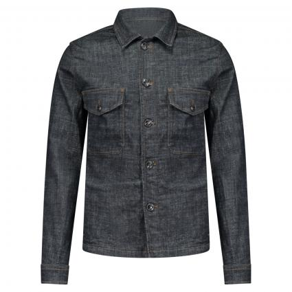 Jeansjacke im Overshirt Style blau (181952 Dark Blue Den) | XXL