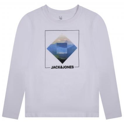 T-Shirt mit frontalem Print  weiss (178074001 White/JJ P) | 140