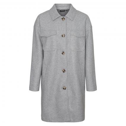 Jacke 'Dafne Ray' im Overshirt-Stil silber (178994 Light Grey Me) | M