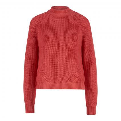 Pullover mit Strukturmuster pink (184219 Spiced Coral) | L