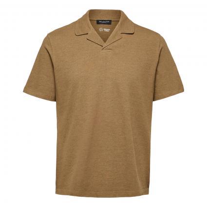 Poloshirt mit Hawaii Kragen beige (187822001 Kelp/Melan) | L