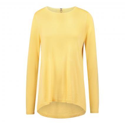 Pullover mit Reißverschlussdetail gelb (245416001 Cornsilk/W) | M