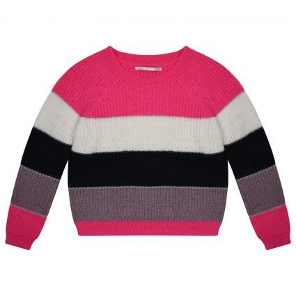 Strickpullover mit Color-Blocking  pink (178314002 Pink Glo/C) | 164