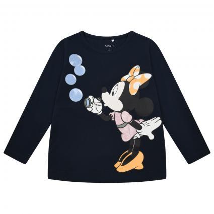 Langärmliges Shirt mit frontalem Print  marine (216654 Dark Sapphire) | 92