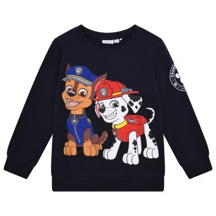 Sweatshirt mit großen Paw Petrol-Print marine (216654 Dark Sapphire) | 86