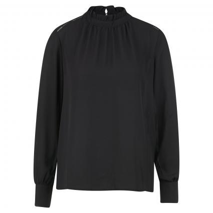 Bluse mit Raffung am Hals schwarz (179099 Black) | 36