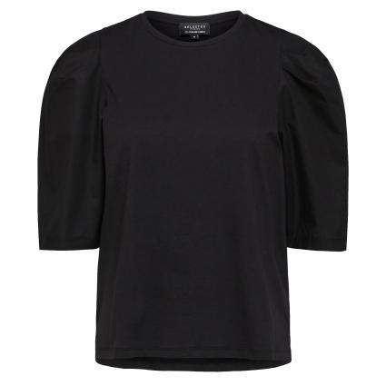 T-Shirt mit Puffärmeln schwarz (179099 Black)   S