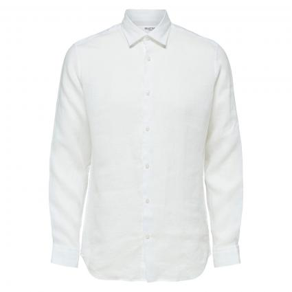 Regular-Fit Hemd  weiss (178615 White) | M