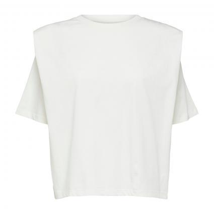 T-Shirt mit Schulterpolster weiss (182634 Snow White) | M
