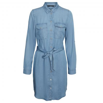 Kleid 'Viviana Mia' in Denim-Optik blau (178000 Light Blue De)   L