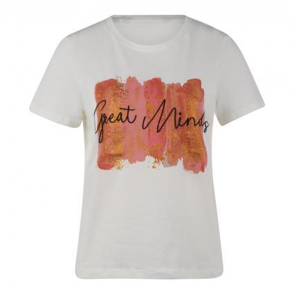 T-Shirt mit frontalem Print  weiss (175598001 Snow White)   S